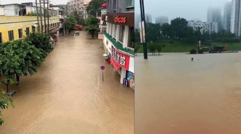 100 000 embert telepítettek ki Dél-Kínában az áradások miatt