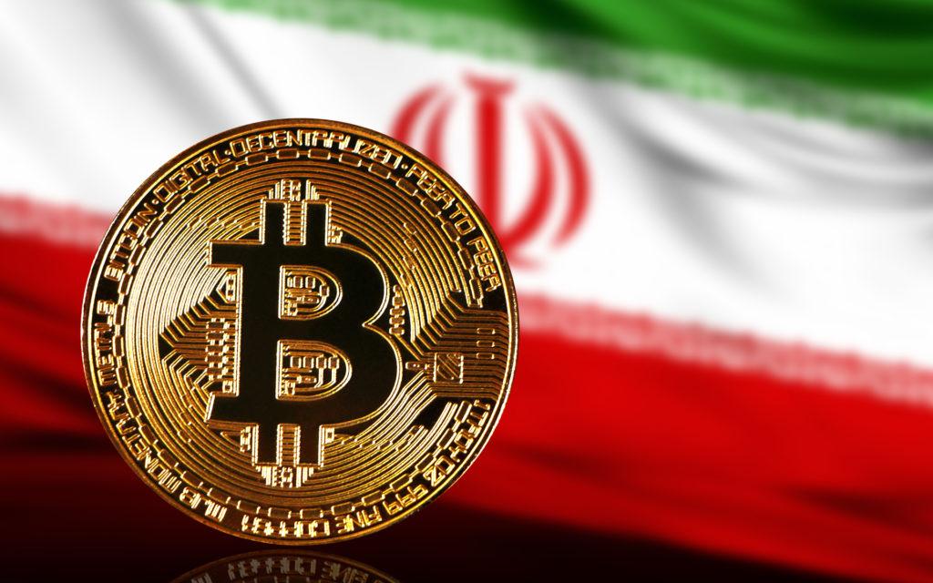 Bitcoin és iráni zászló