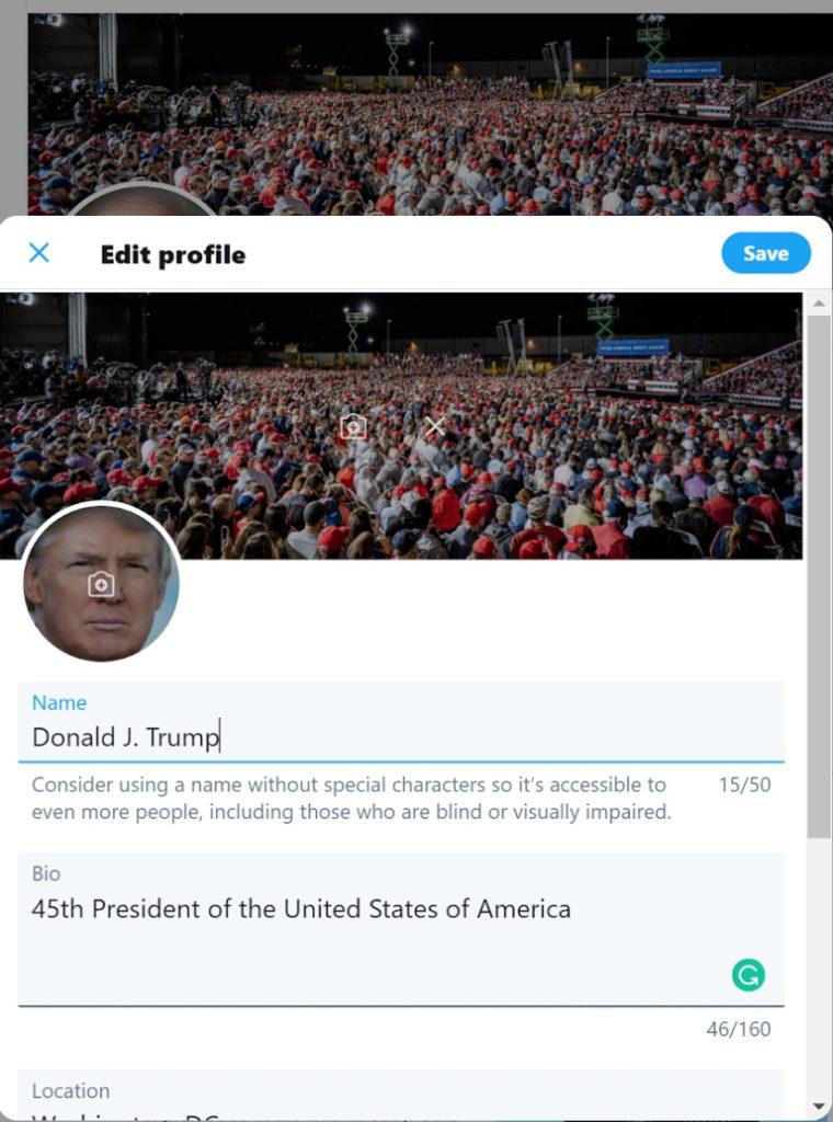 Twitter-account belülről