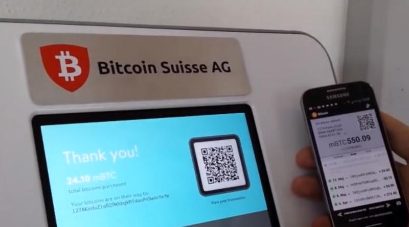 Svájcban bitcoin ATM