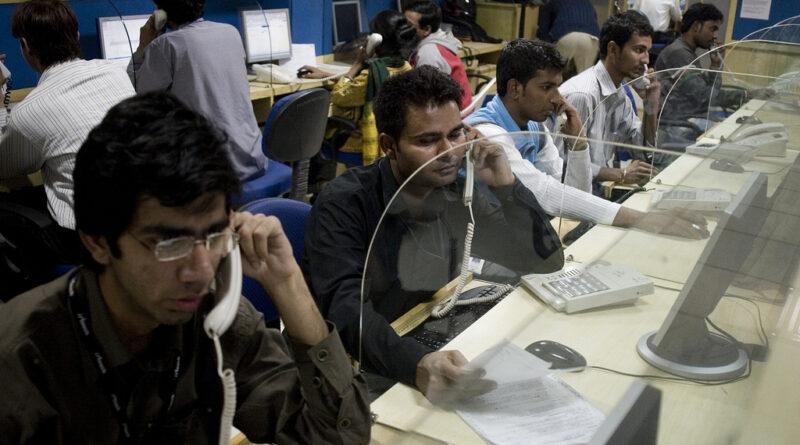 Telefonközpont Indiában