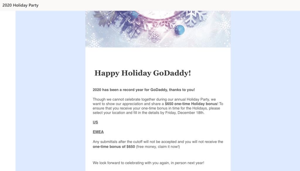 GoDaddy email