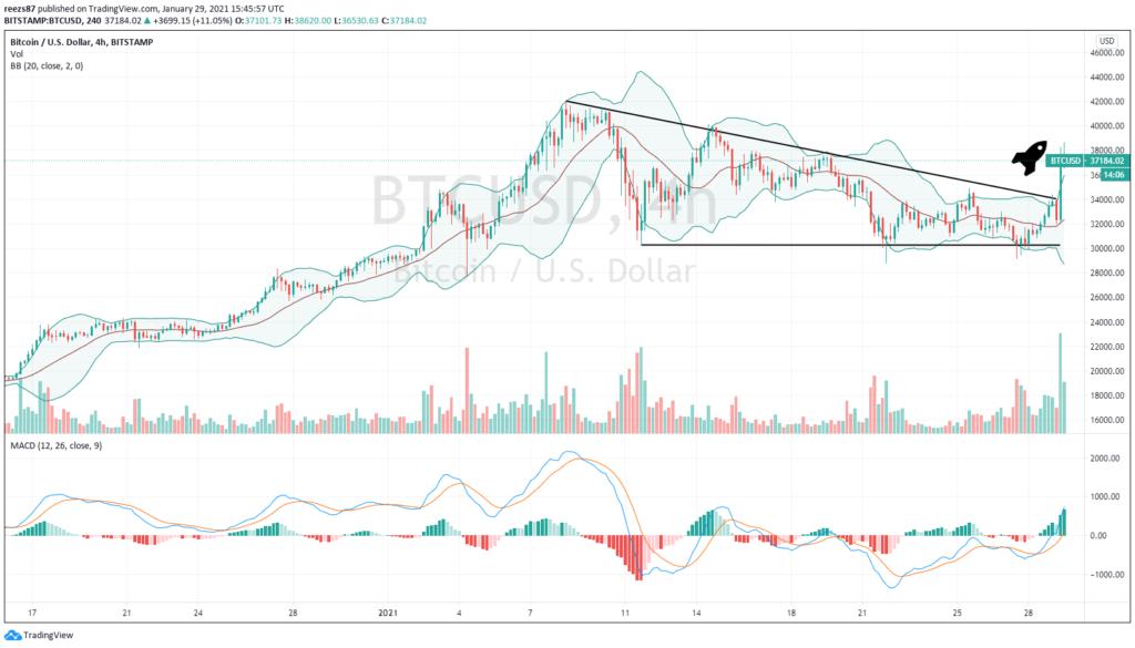 ismét mozgásba lendülhetett egy bitcoin bálna
