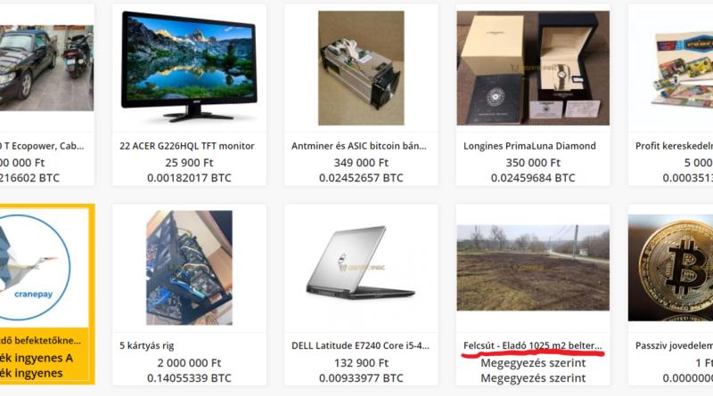 hirdetőoldal bitcoin