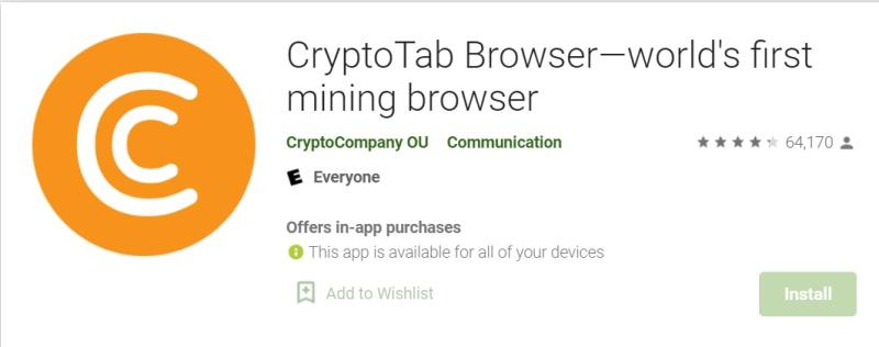 Kriptopénz bányászat a mobilod böngészőjén: átverés a CryptoTab?