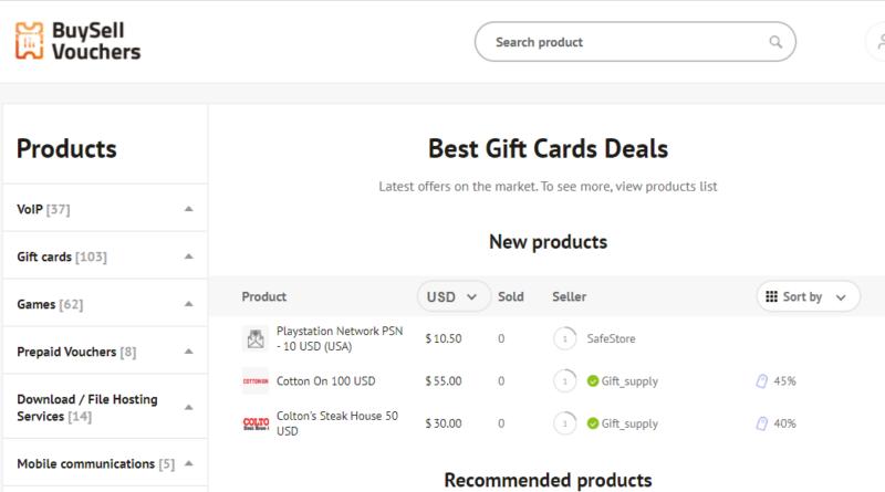 Ajándékkártyák adásvétele kriptovalutákban - ez a BuySellVouchers.com