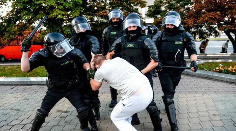 fehérorosz rendőrség