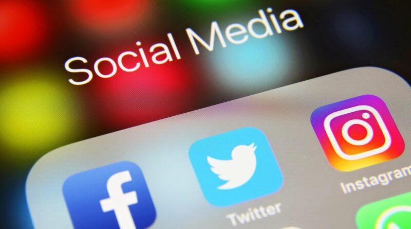 Facebook, Twitter, Instagram