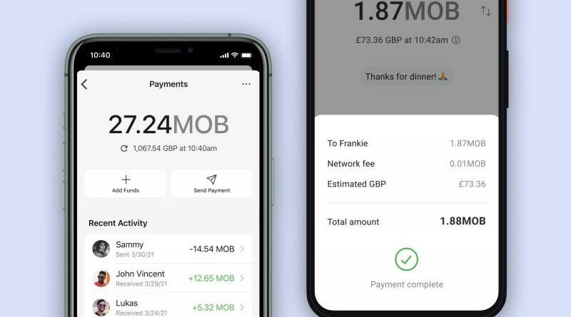 MobileCoin MOB - MobileCoin a Signal üzenetküldő alkalmazáson
