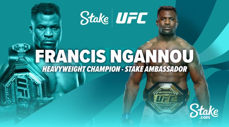 UFC nehézsúlyú bajnok Francis Ngannou lesz a Stake.com márkanagykövete