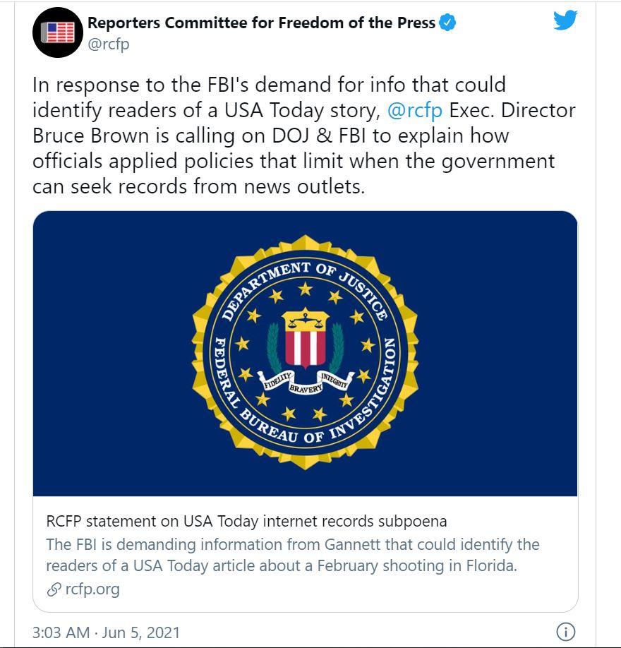 FBI tiltakozás nagy testvér USA