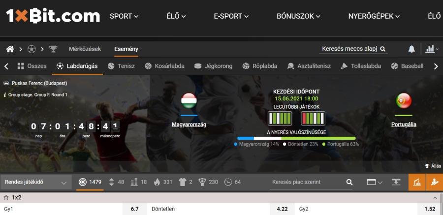 EURO 2020 esélyek: sportfogadás Magyarország Eb-meccseire bitcoinnal