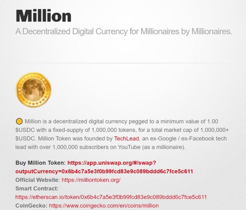 Million token: Újabb YouTuber verhette át követőit saját kriptoprojektjével