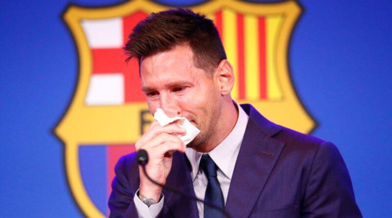 Messi sír