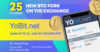 Saját bitcoin forkot indít a YoBit, ingyen tokent osztanak a felhasználóknak